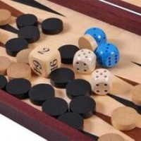 Backgammon in legno portatile
