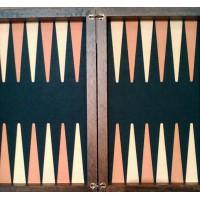 Backgammon in legno di noce elegante modello Riz
