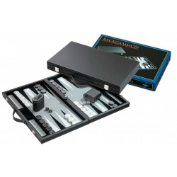 Backgammon a valigetta interno grigio
