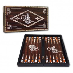 Backgammon in legno pieghevole produzione turca