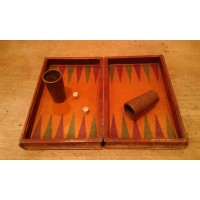 Backgammon in pelle vintage