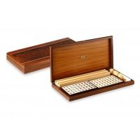 Mah Jong con elegante scatola in legno