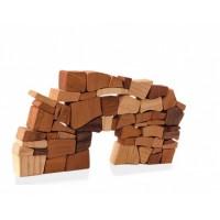 """""""Wall"""" costruisci il muro con blocchi di legno senza malta. Gioco di abilità."""