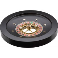 Roulette in legno laccato nero 36 cm. diametro