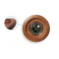 Roulette in mogano su cuscinetti a sfera 36 cm. diametro