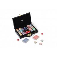 Valigetta per 200 fiches e due mazzi di carte rossa e nera